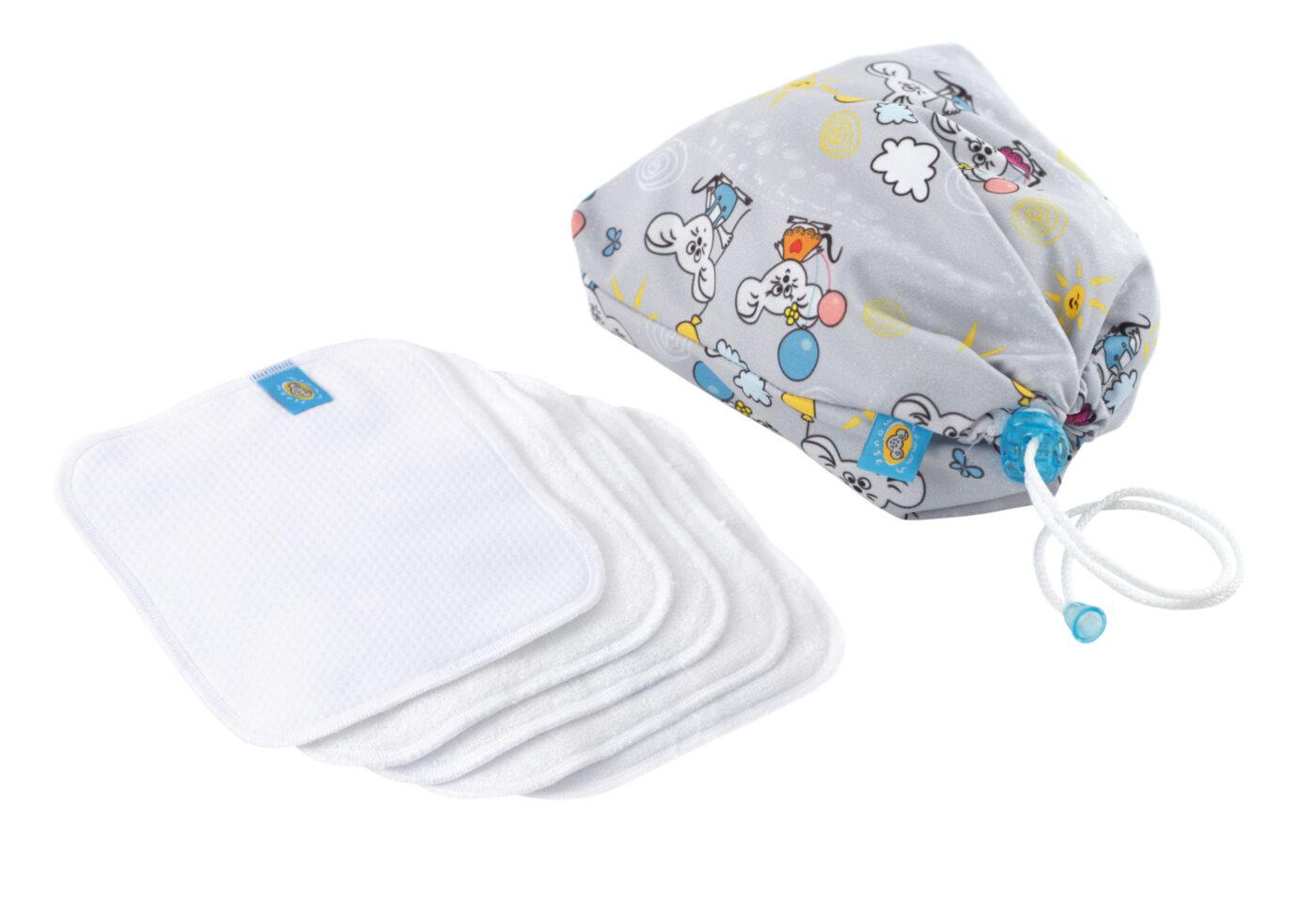 Reusable Wipe Pouch BALONIK +  5pcs Reusable Wipes (COMBINED SET)