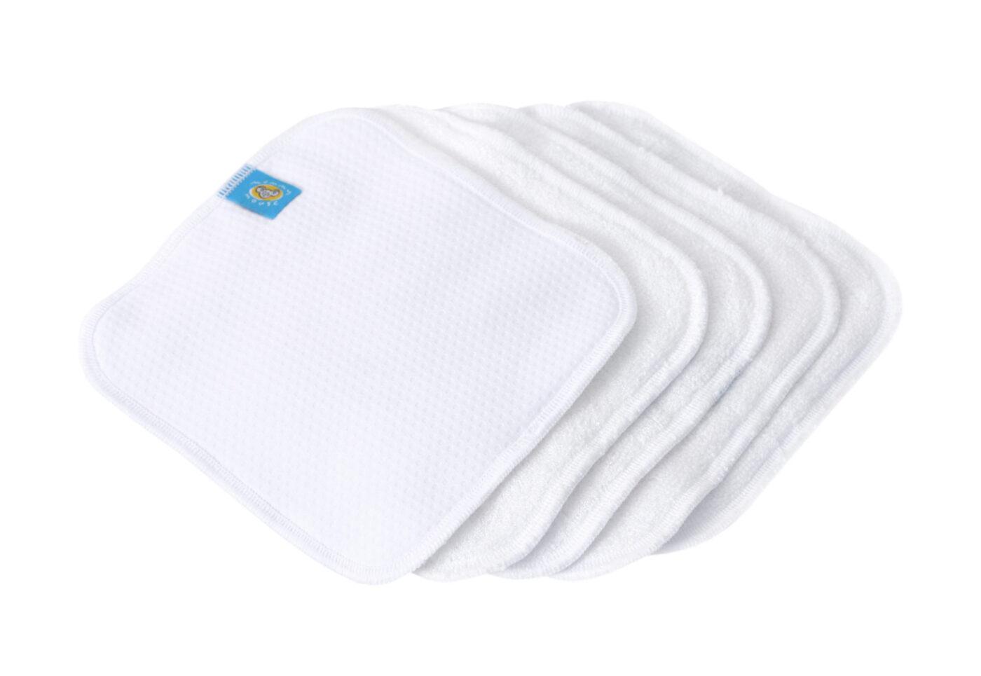 Reusable Wipe Pouch AQUA + 5pcs Reusable Wipes (CHEESE)